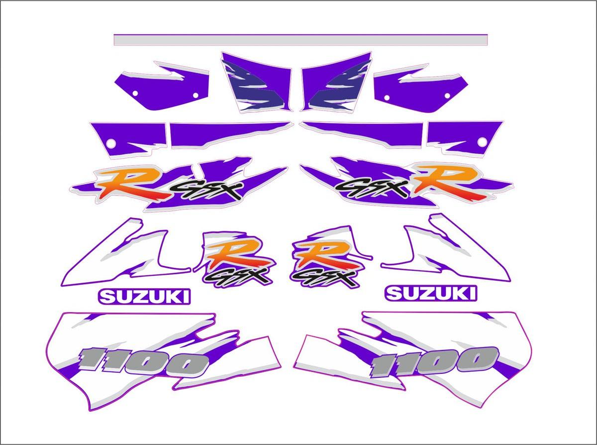 Kit Adesivo Suzuki Gsxr 1000 Roxa 1996 Gsxrx96