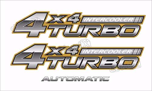 Kit Adesivo Toyota Hilux 4x4 Turbo Intercooler 2006 A 2008