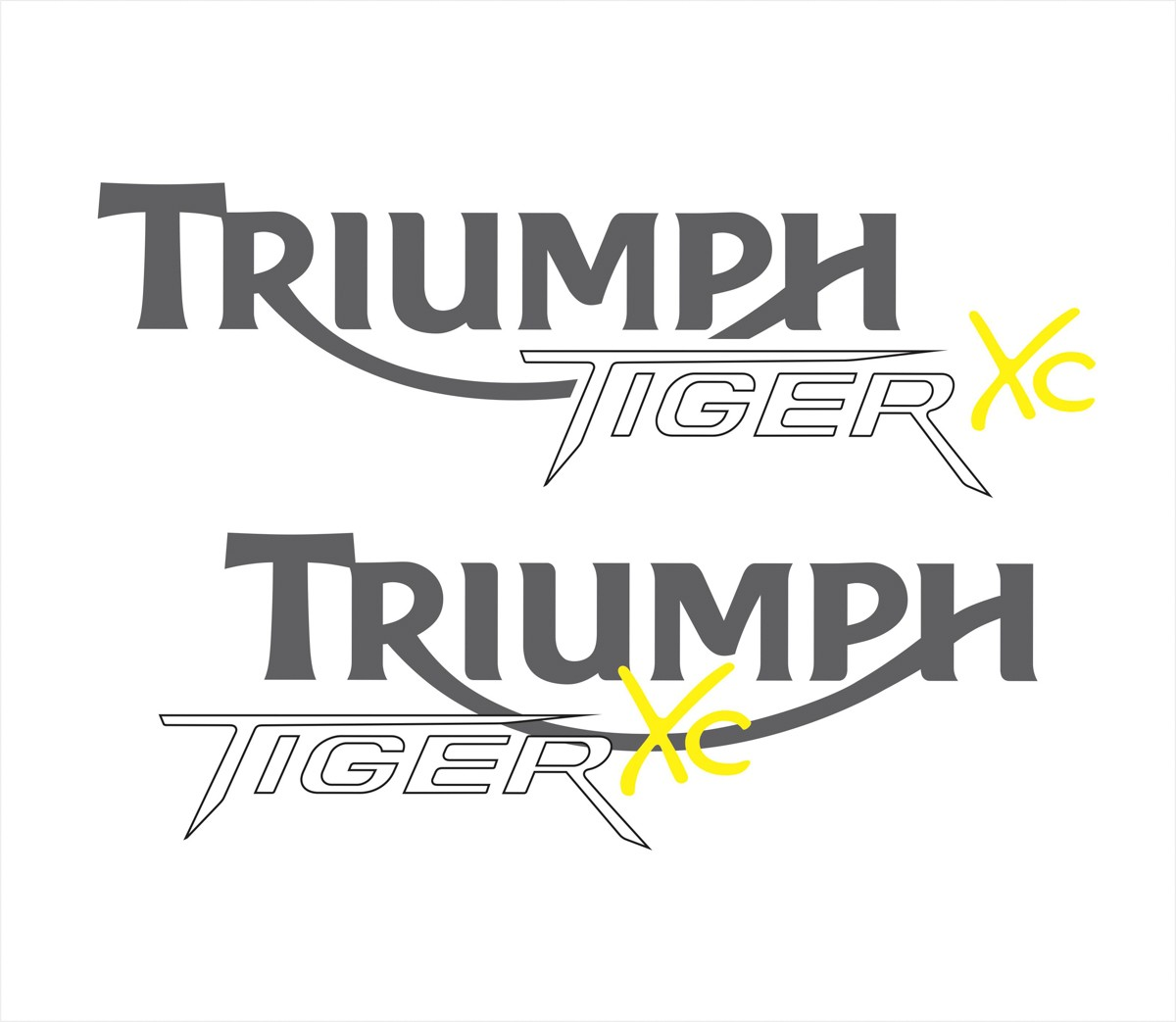 Kit Adesivo Triumph Tiger 800xc 800 Xc 2015 Laranja Tg005