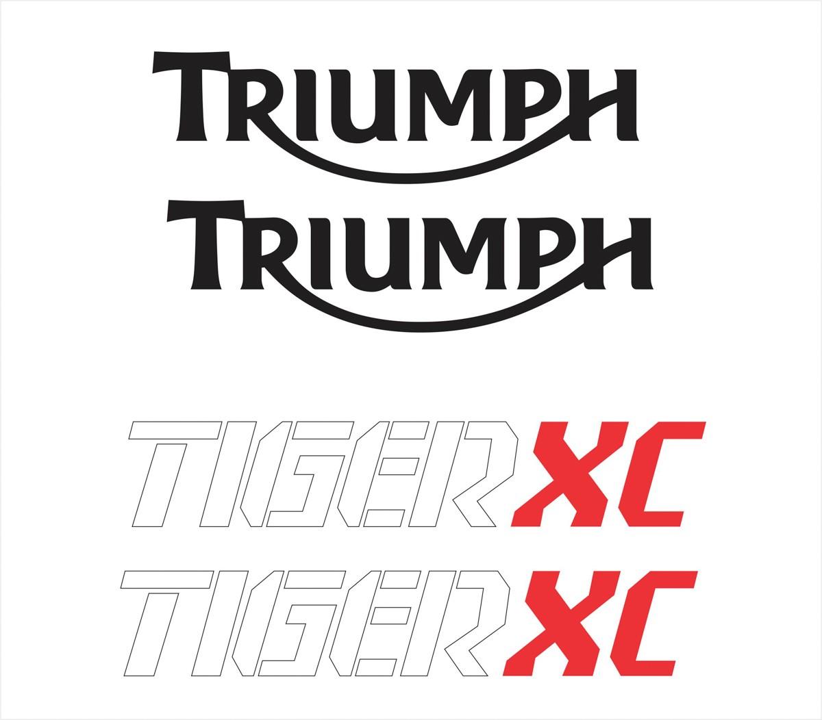 Kit Adesivo Triumph Tiger 800xc 800 Xc 2016 Branca Tg011