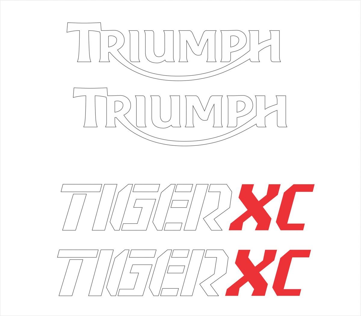 Kit Adesivo Triumph Tiger 800xc 800 Xc 2016 Preta Tg012