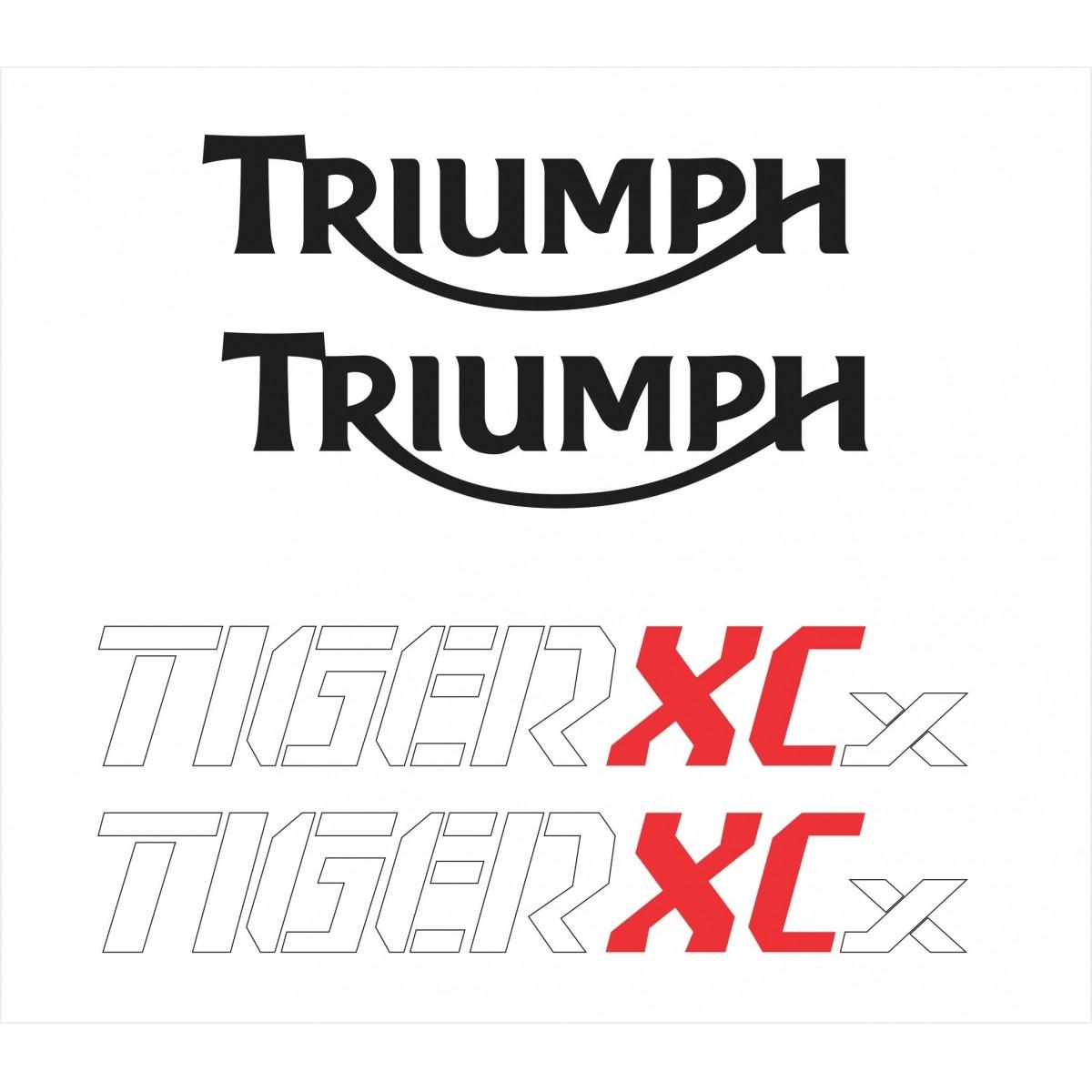 Kit Adesivo Triumph Tiger 800xcx 800 Xcx 2017 Branca Tg017