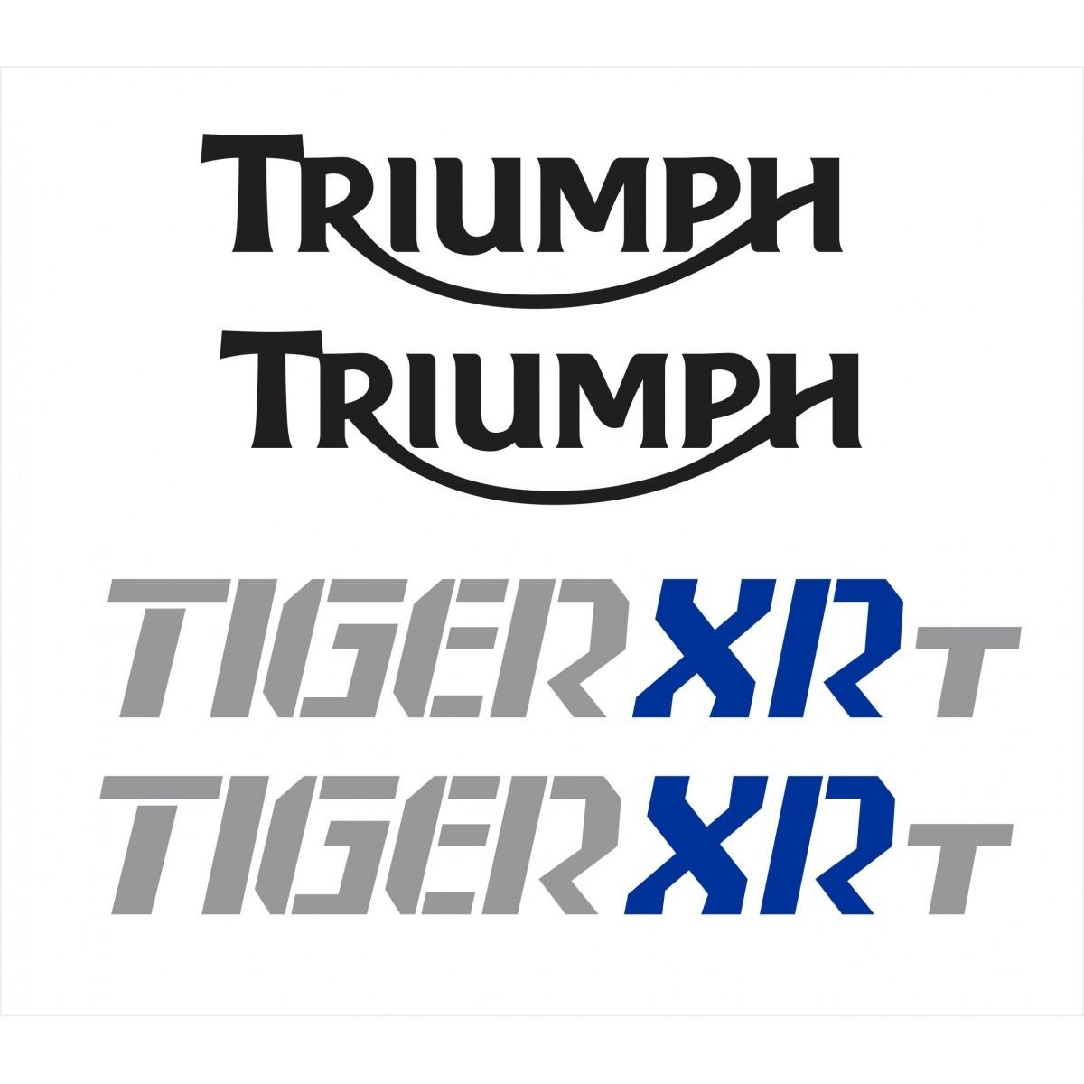 Kit Adesivo Triumph Tiger 800xrt 800 Xrt Branca Tg027