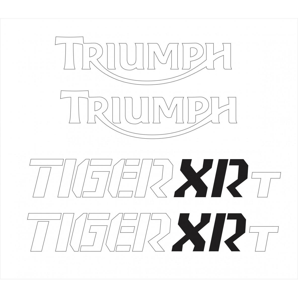 Kit Adesivo Triumph Tiger 800xrt 800 Xrt Vermelha Tg028