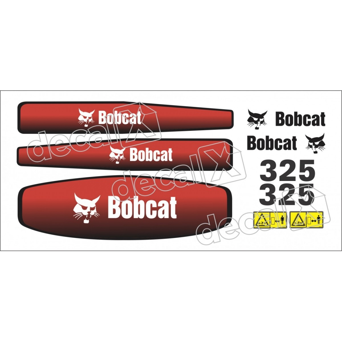 Kit Adesivos Bobcat 325 Decalx