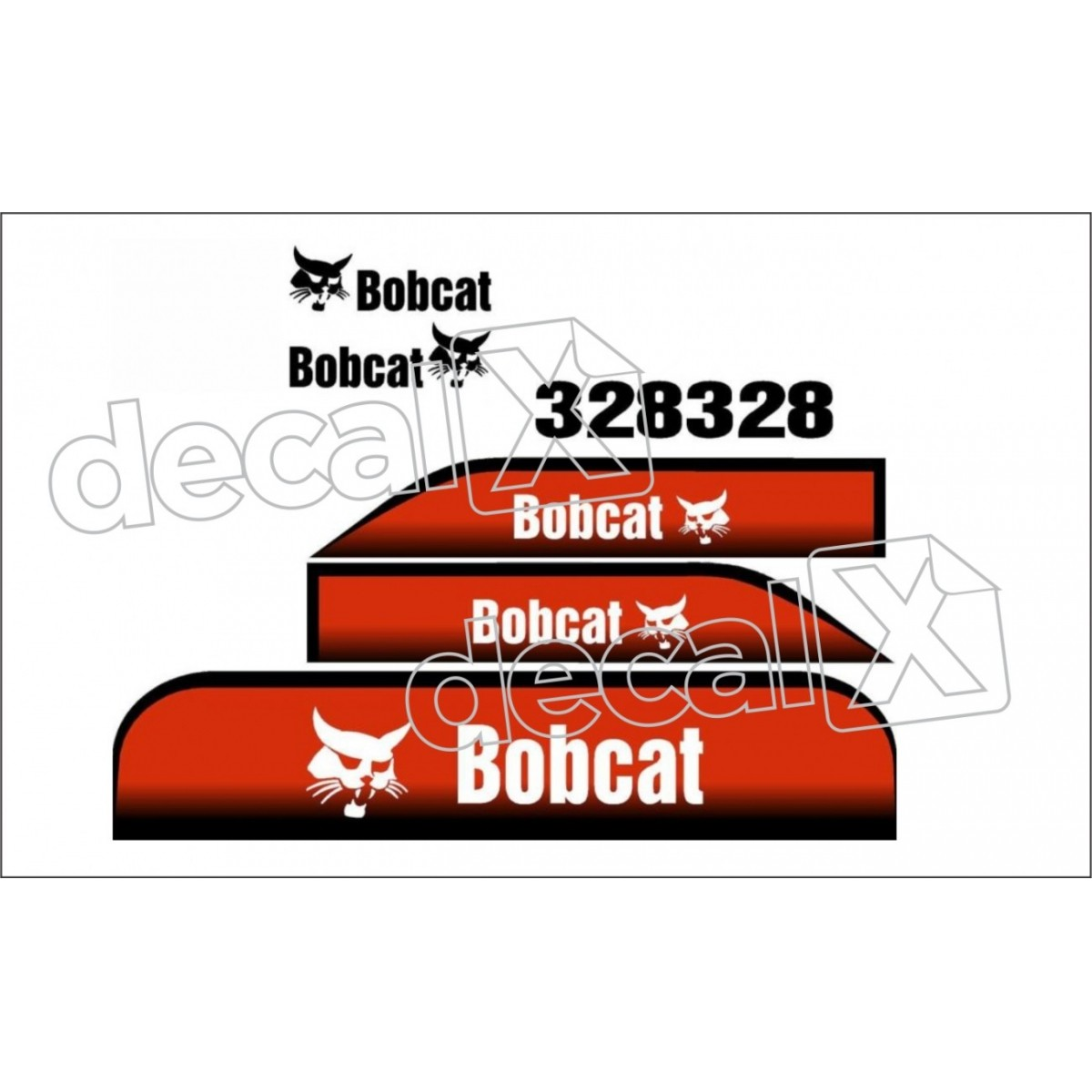 Kit Adesivos Bobcat 328 Decalx