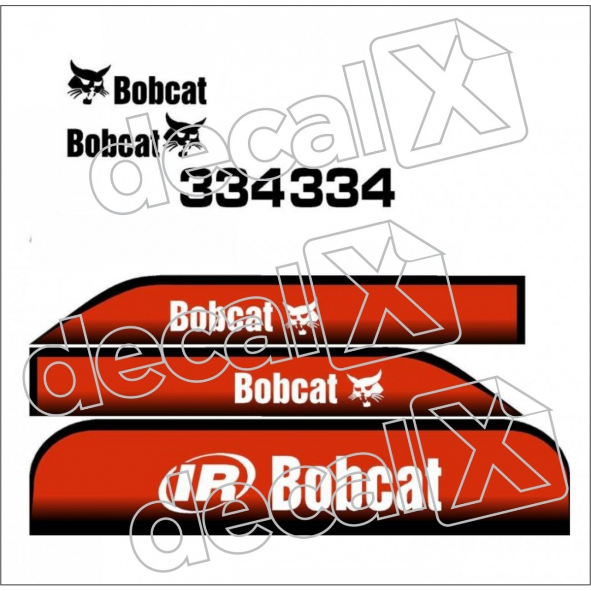 Kit Adesivos Bobcat 334 Decalx