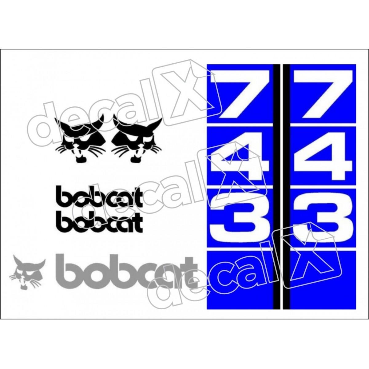 Kit Adesivos Bobcat 743 Decalx