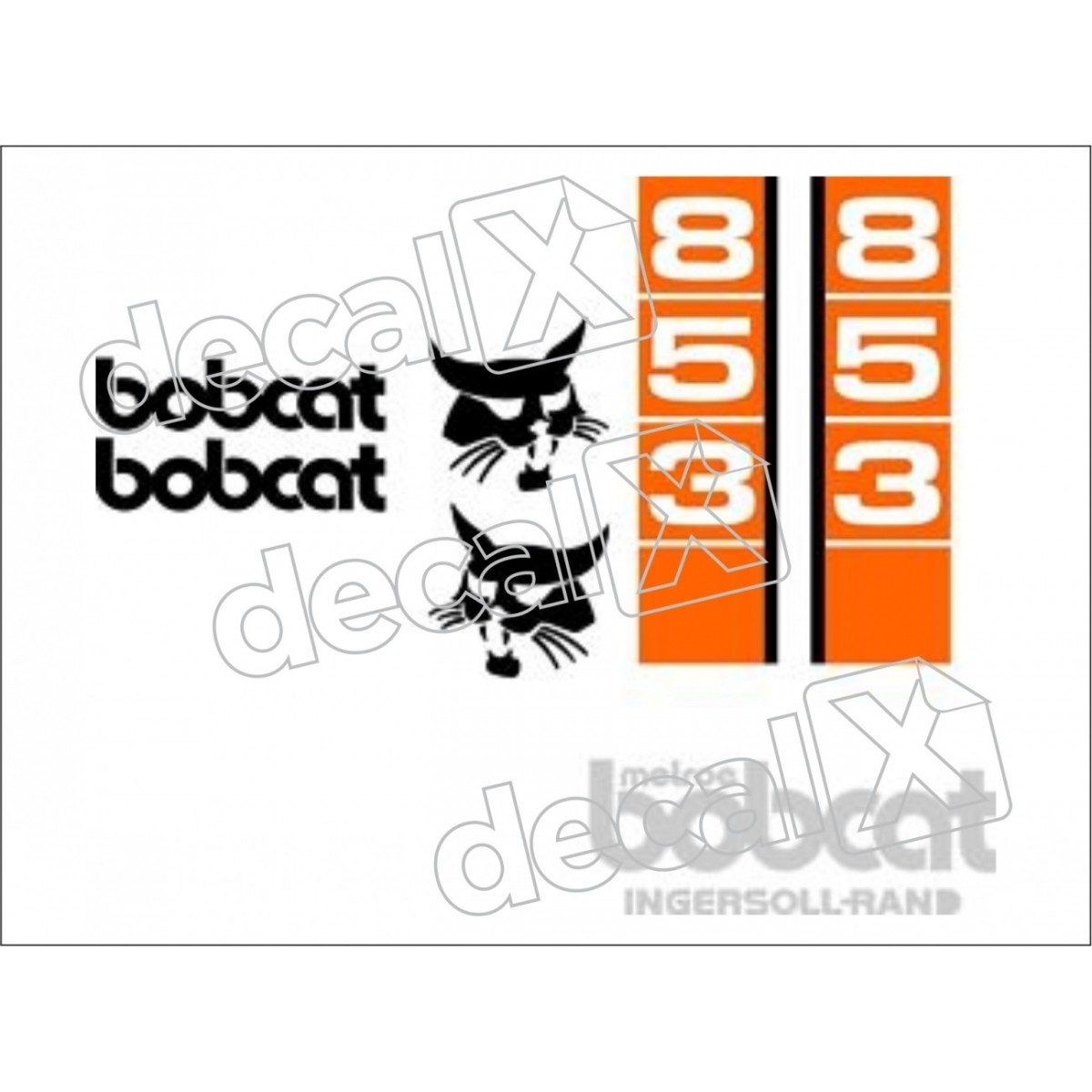 Kit Adesivos Bobcat 853 Decalx