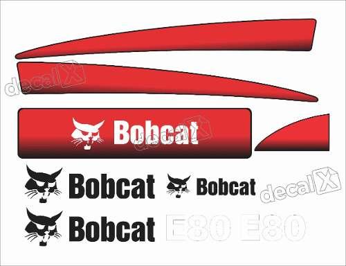 Kit Adesivos Bobcat E80 Decalx