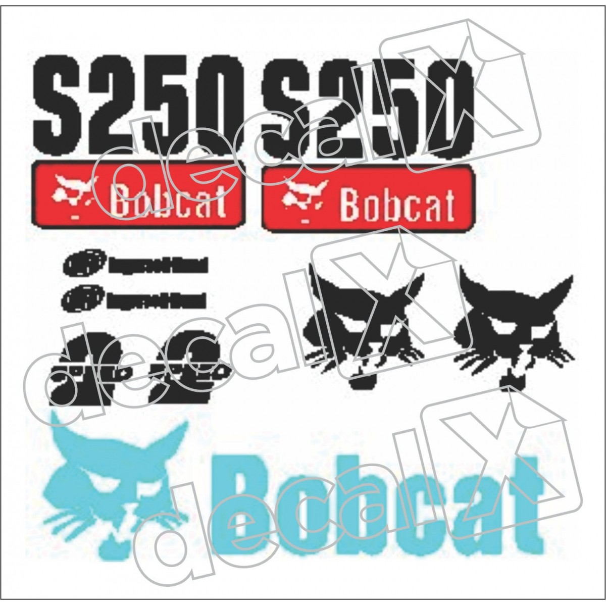 Kit Adesivos Bobcat Ns250 Decalx