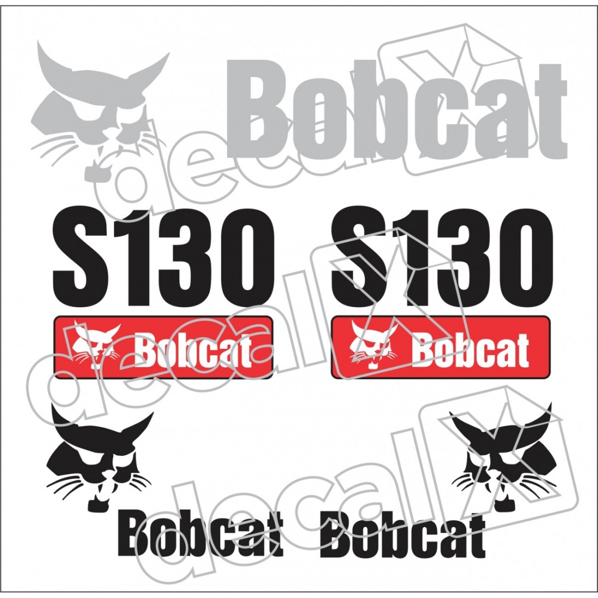 Kit Adesivos Bobcat S130 Decalx