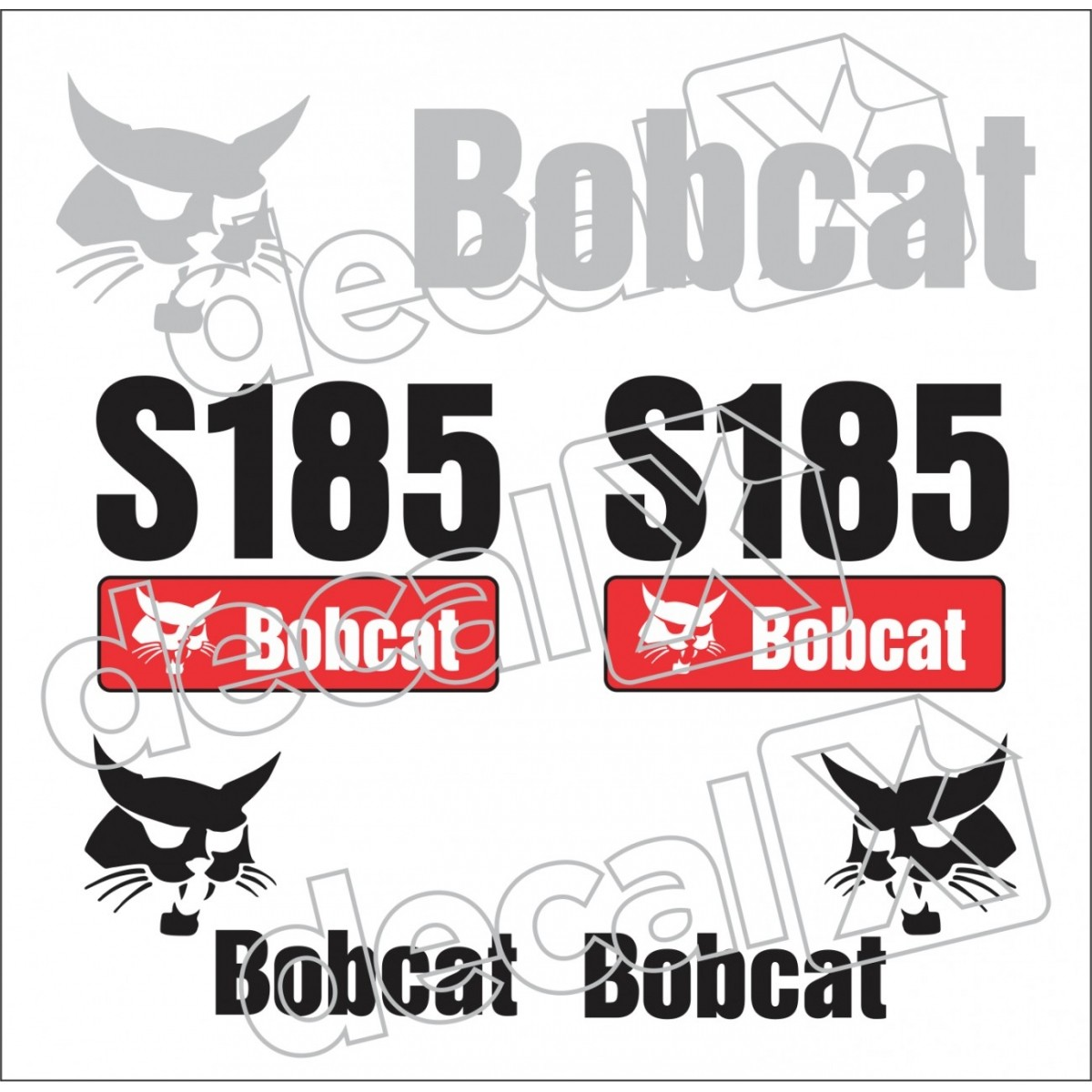 Kit Adesivos Bobcat S185 Decalx