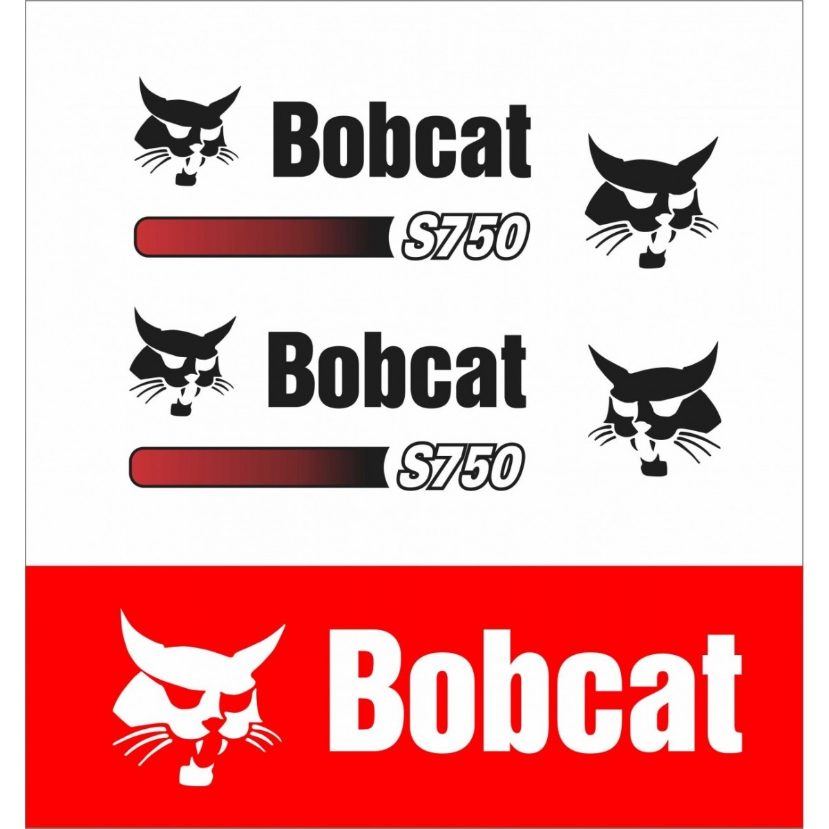 Kit Adesivos Bobcat S750 Decalx