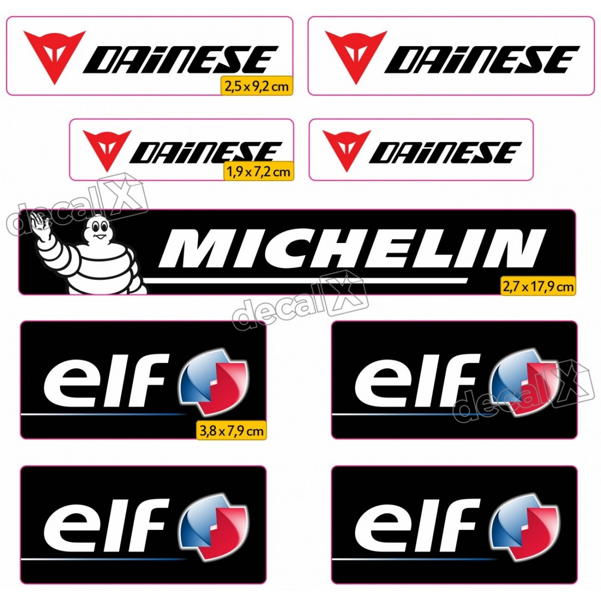 Kit Adesivos Capacete Dainese Michelin Elf Refetivo Ktcp44