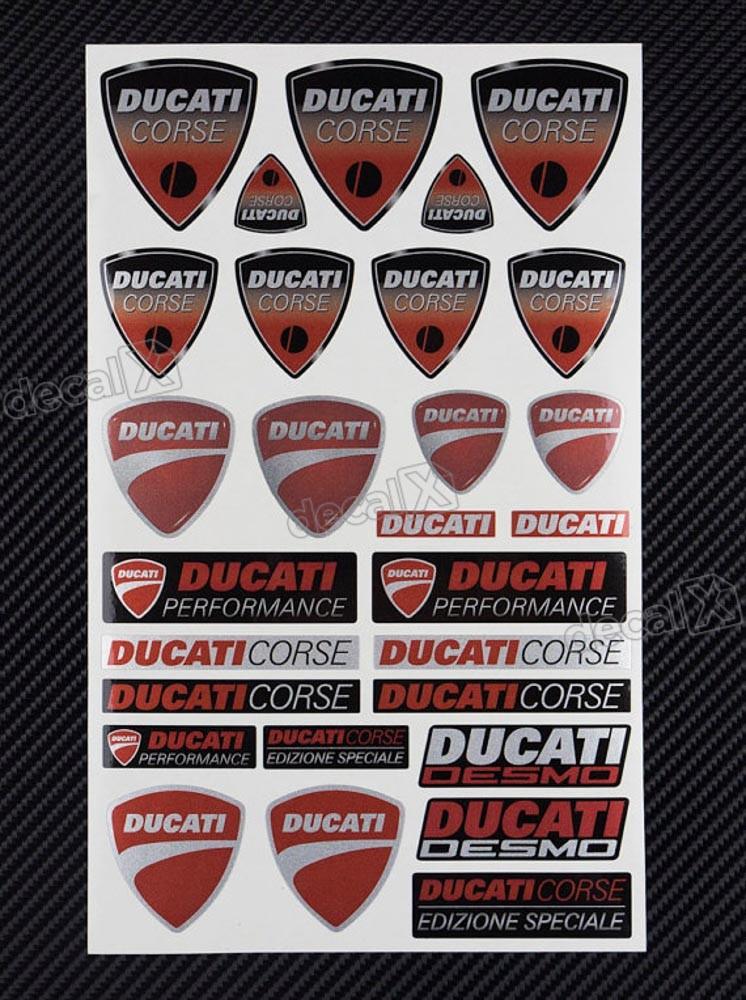 Kit Adesivos Capacete Ducati Corse Ktcp128 Decalx