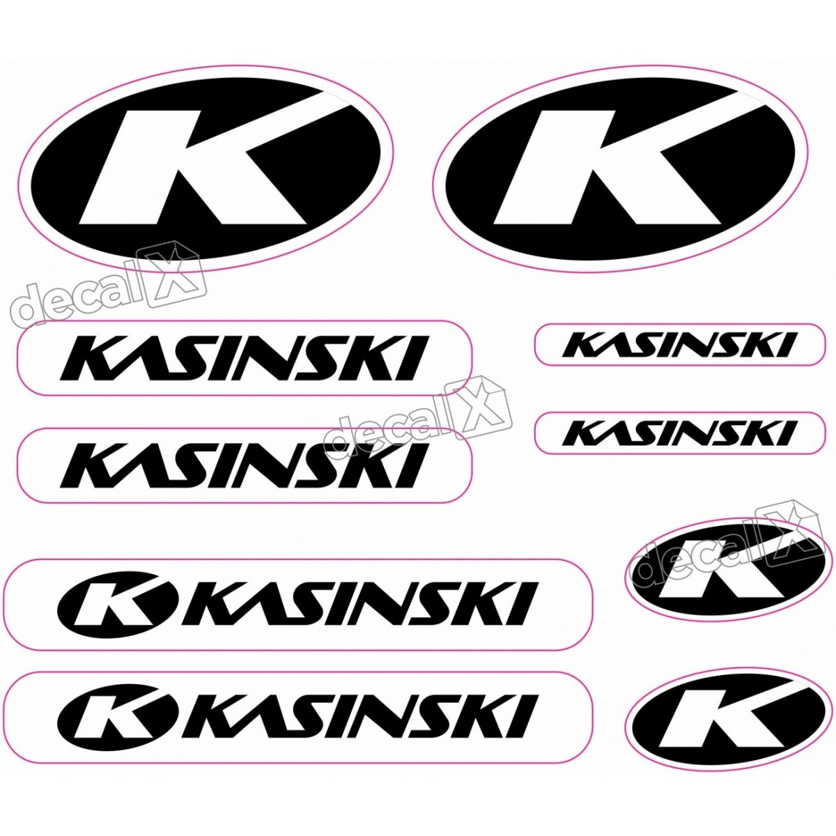 Kit Adesivos Capacete Kasinski Preto Refletivo Ktcp70 Decalx
