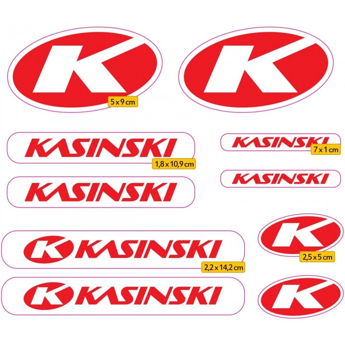 Kit Adesivos Capacete Kasinski Vermelha Refletivo Ktcp71