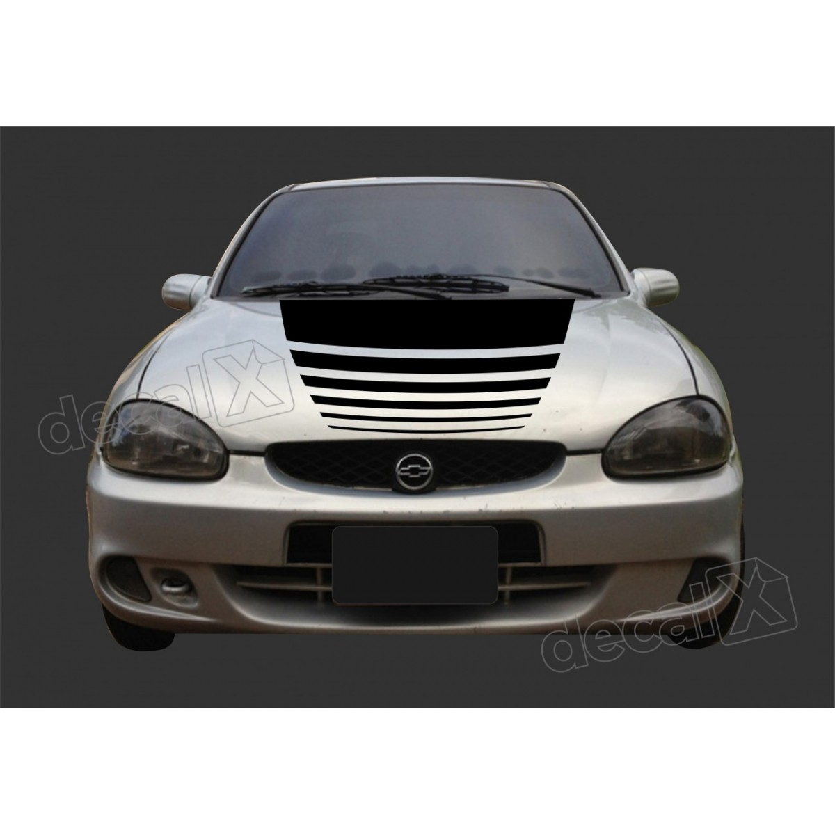 Kit Adesivos Capo Chevrolet Corsa 3m Ctm513
