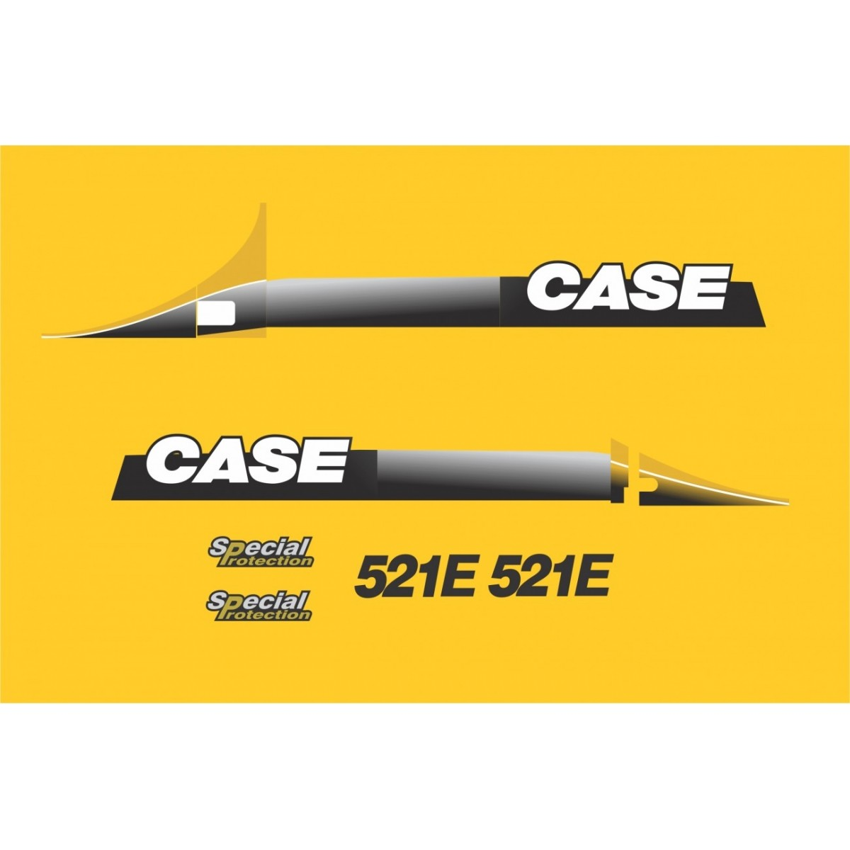 Kit Adesivos Case 521e - Decalx
