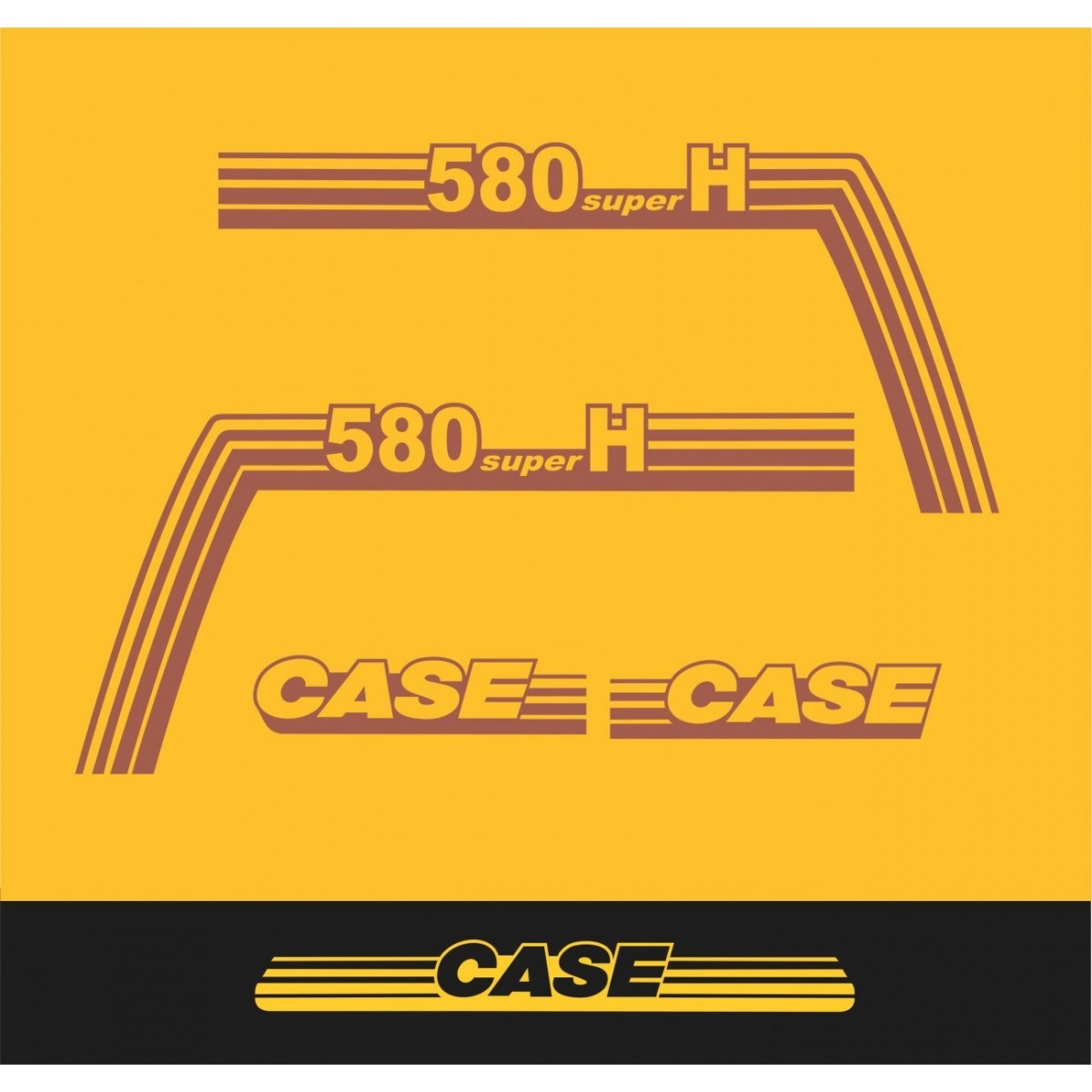Kit Adesivos Case 580 Super H - Decalx
