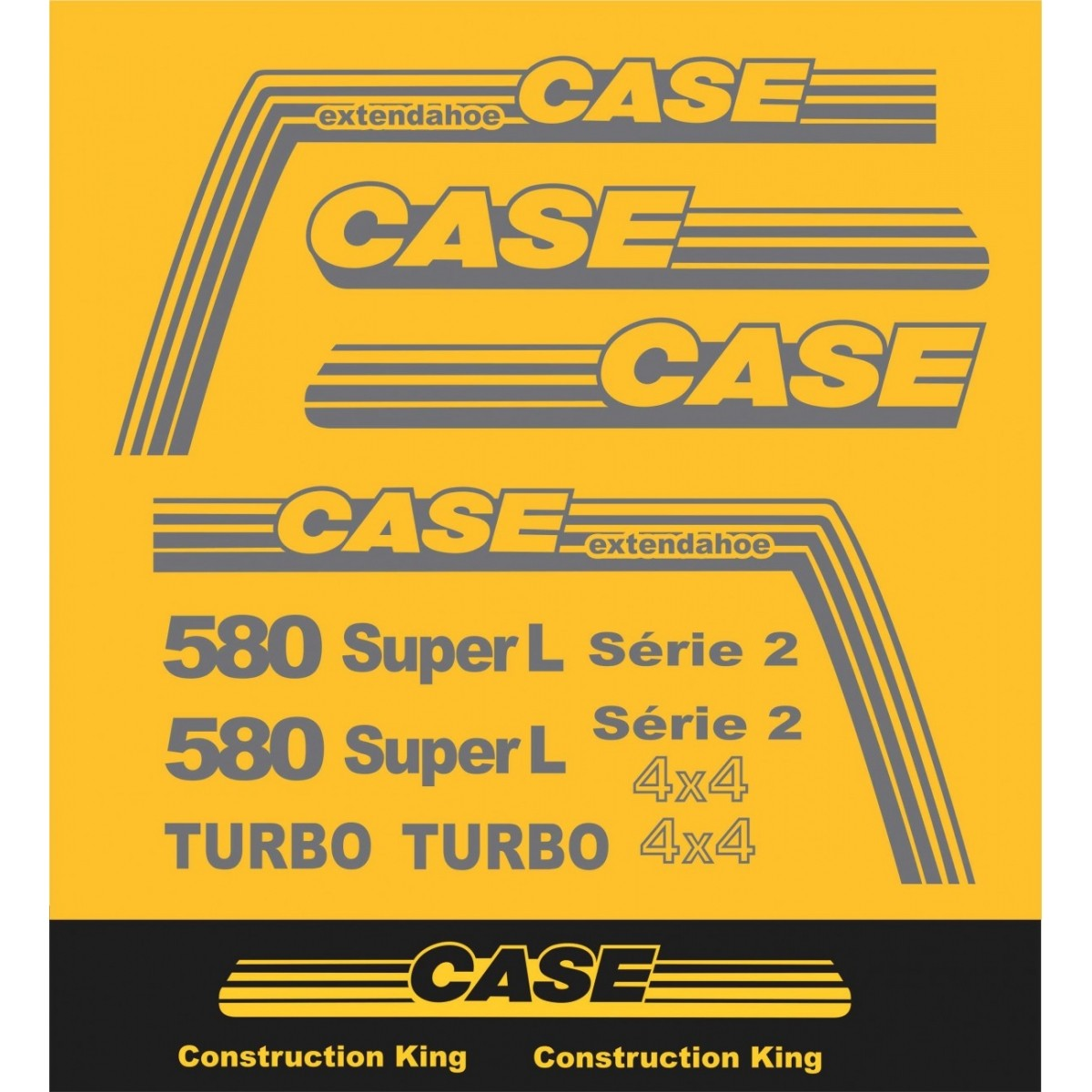 Kit Adesivos Case 580 Super L - Decalx