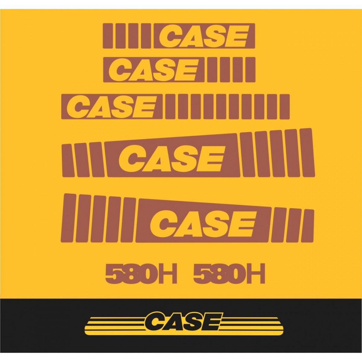 Kit Adesivos Case 580h - Decalx