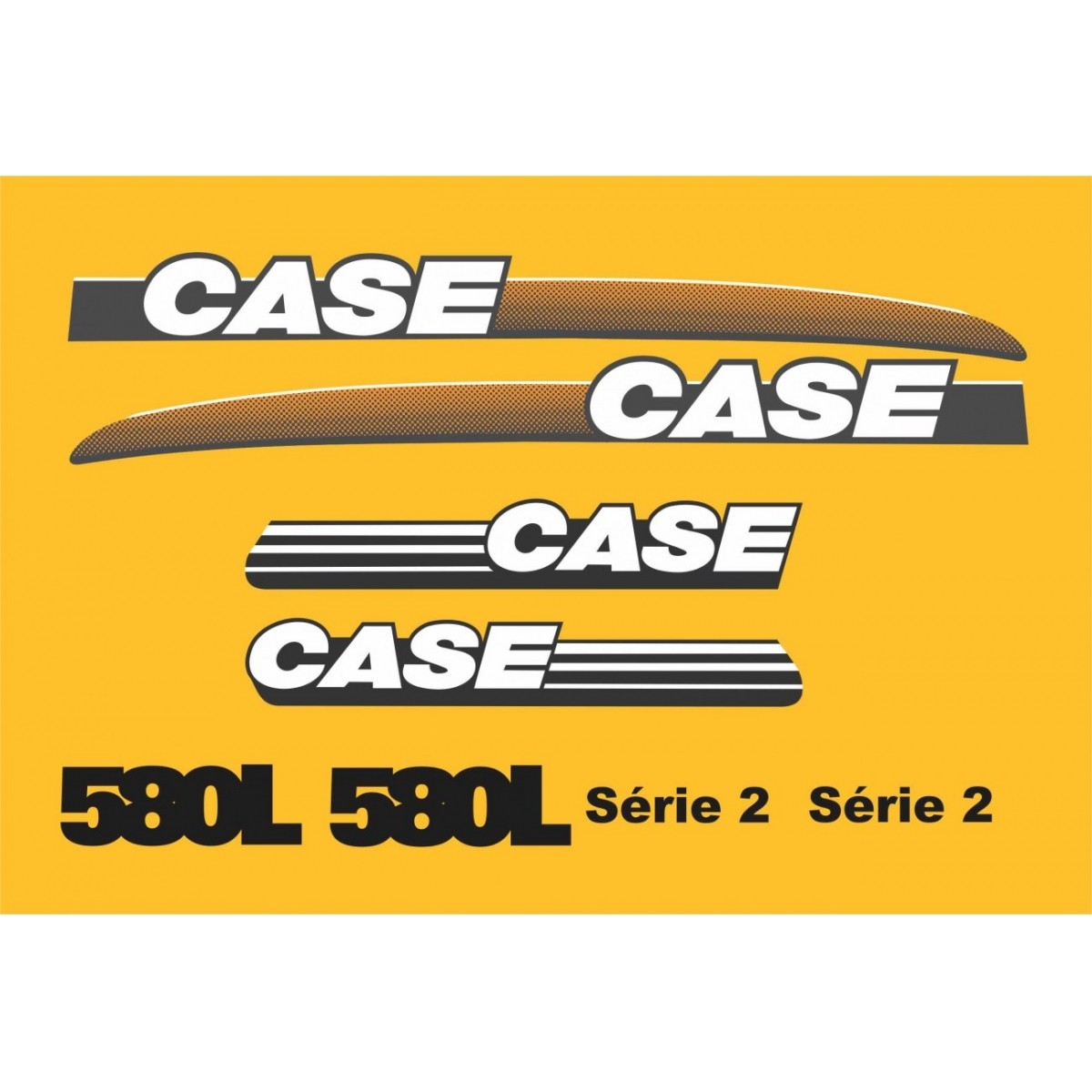 Kit Adesivos Case 580l Serie 2 - Decalx