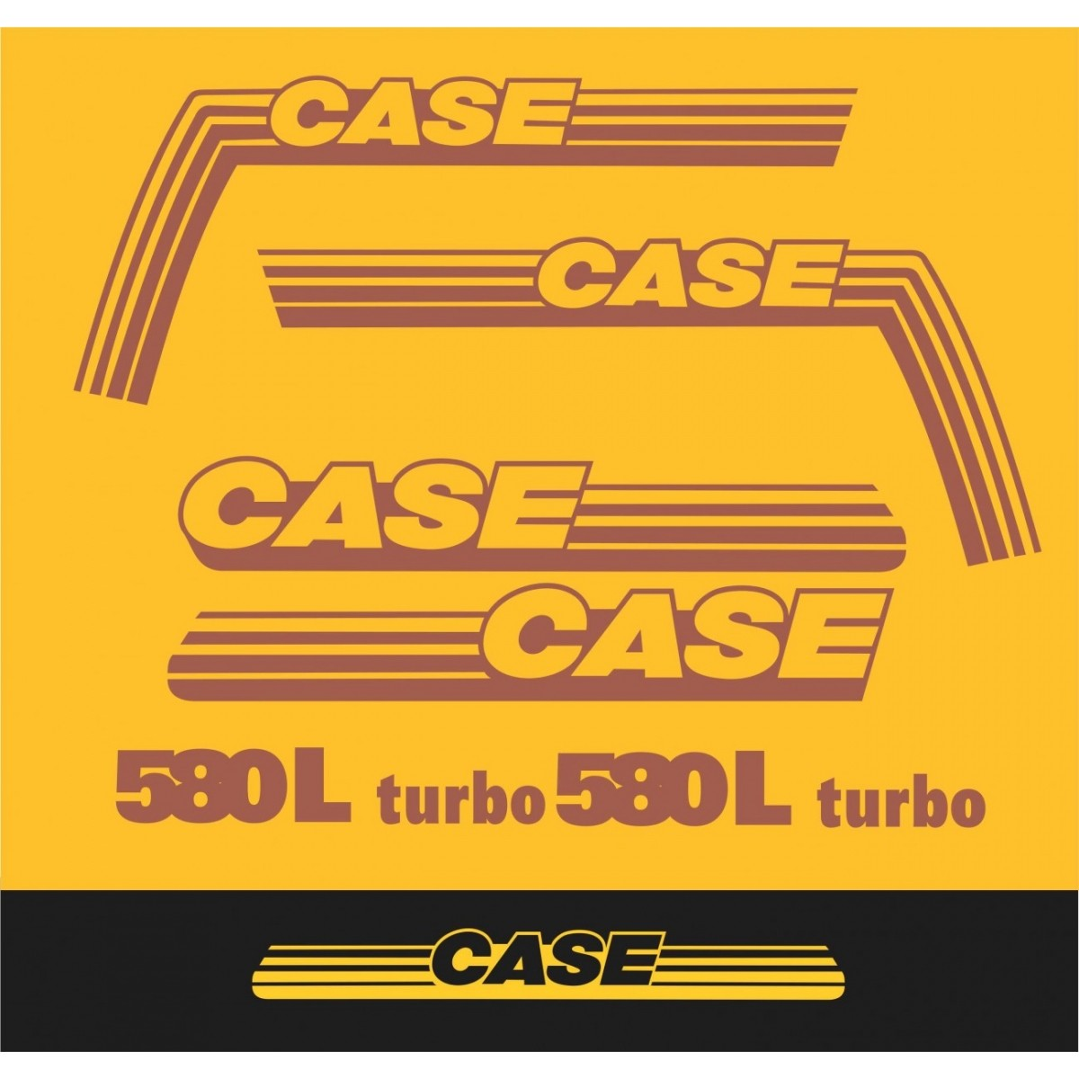 Kit Adesivos Case 580l Turbo - Decalx