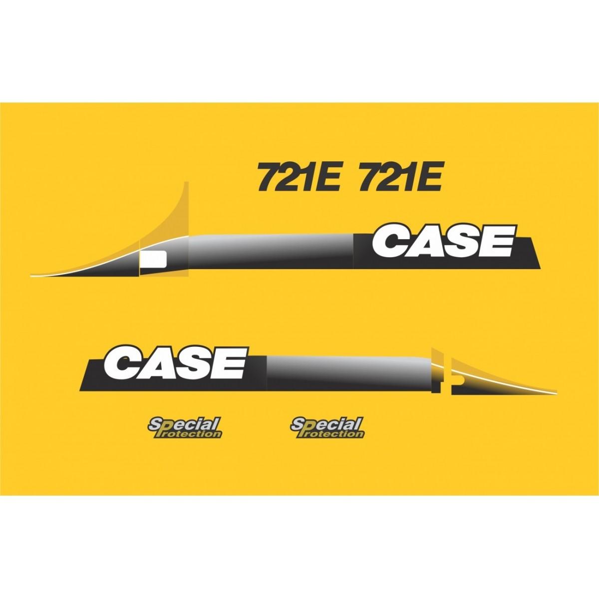 Kit Adesivos Case 721e - Decalx