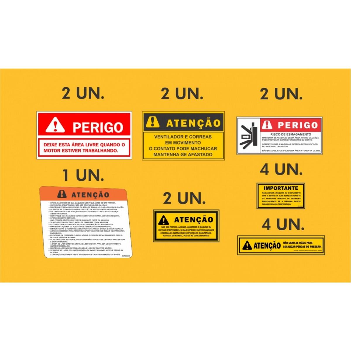 Kit Adesivos Case 821b - Decalx