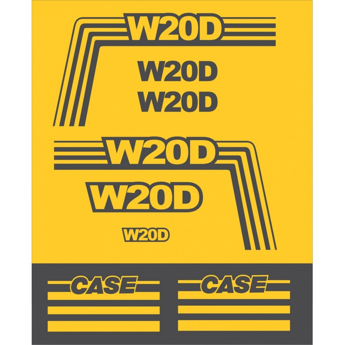Kit Adesivos Case W20d - Decalx