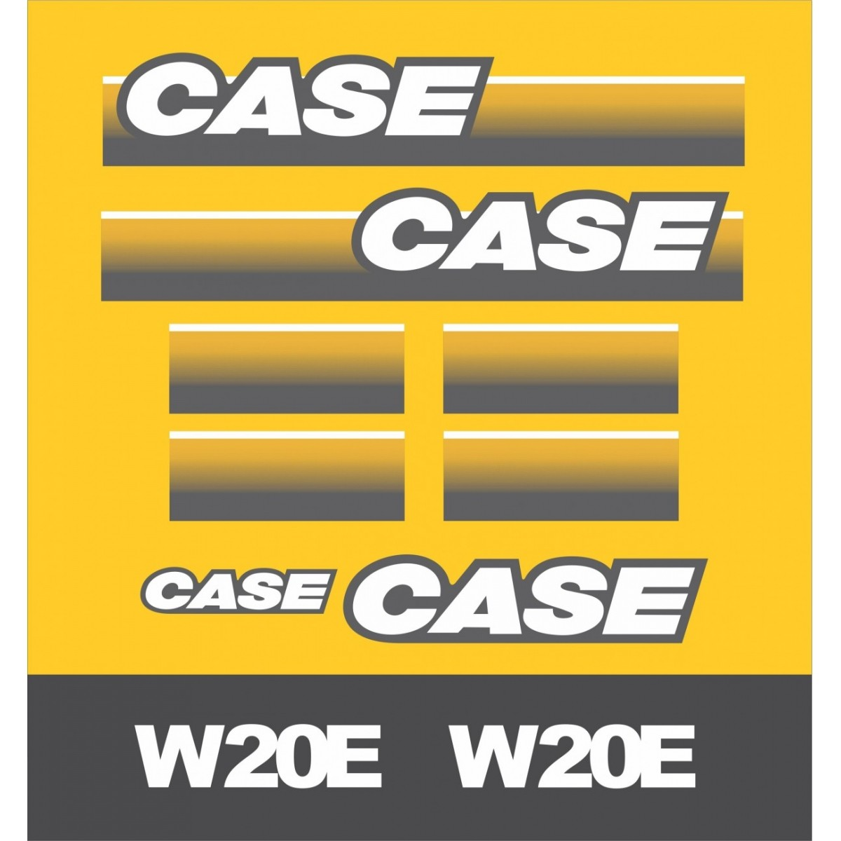 Kit Adesivos Case W20e Nova - Decalx