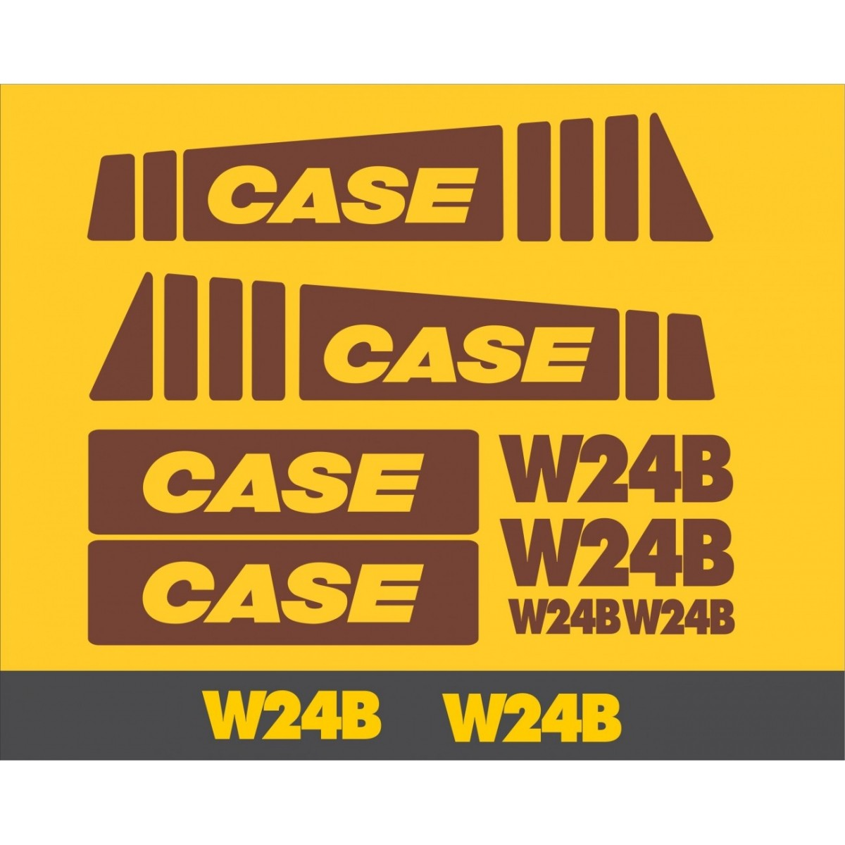 Kit Adesivos Case W24b - Decalx