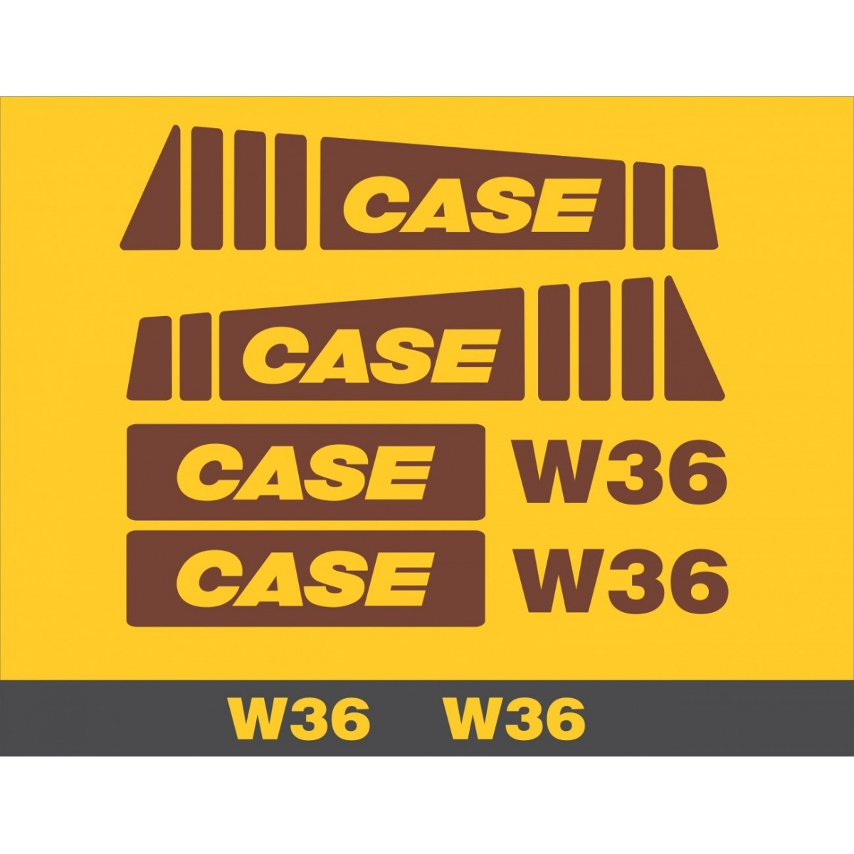 Kit Adesivos Case W36 - Decalx