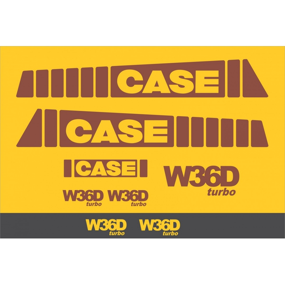 Kit Adesivos Case W36d - Decalx