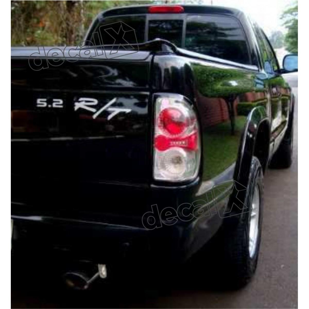 Kit Adesivos Dodge Dakota 5.2 R/t Em Prata Decalx