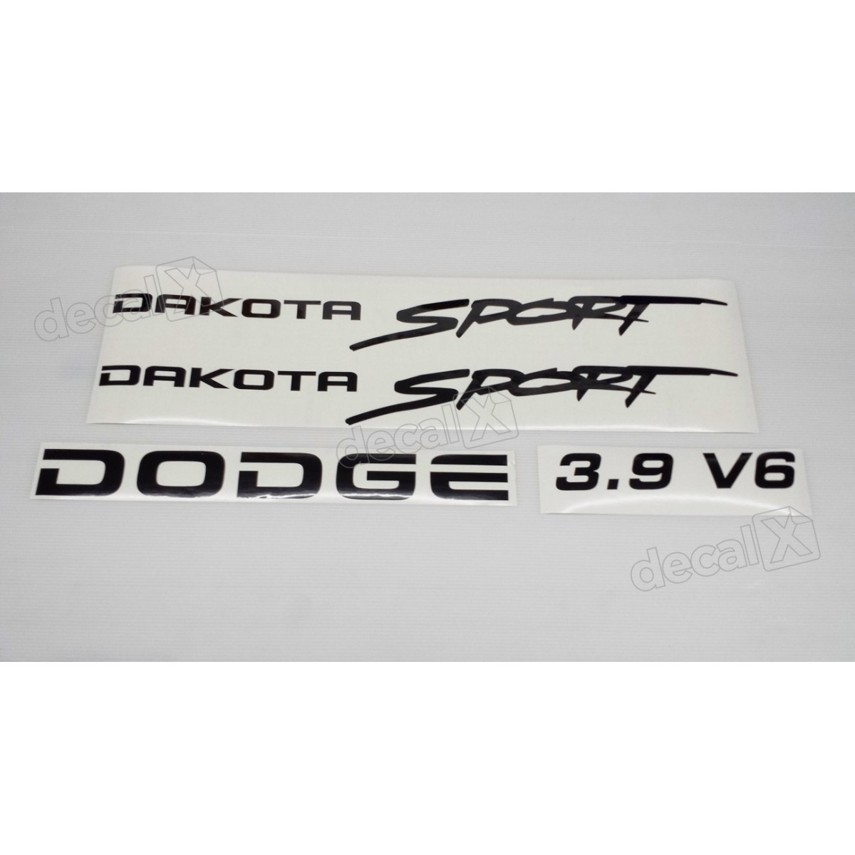 Kit Adesivos Dodge Dakota Sport 3.9 V6 Em Preto Decalx