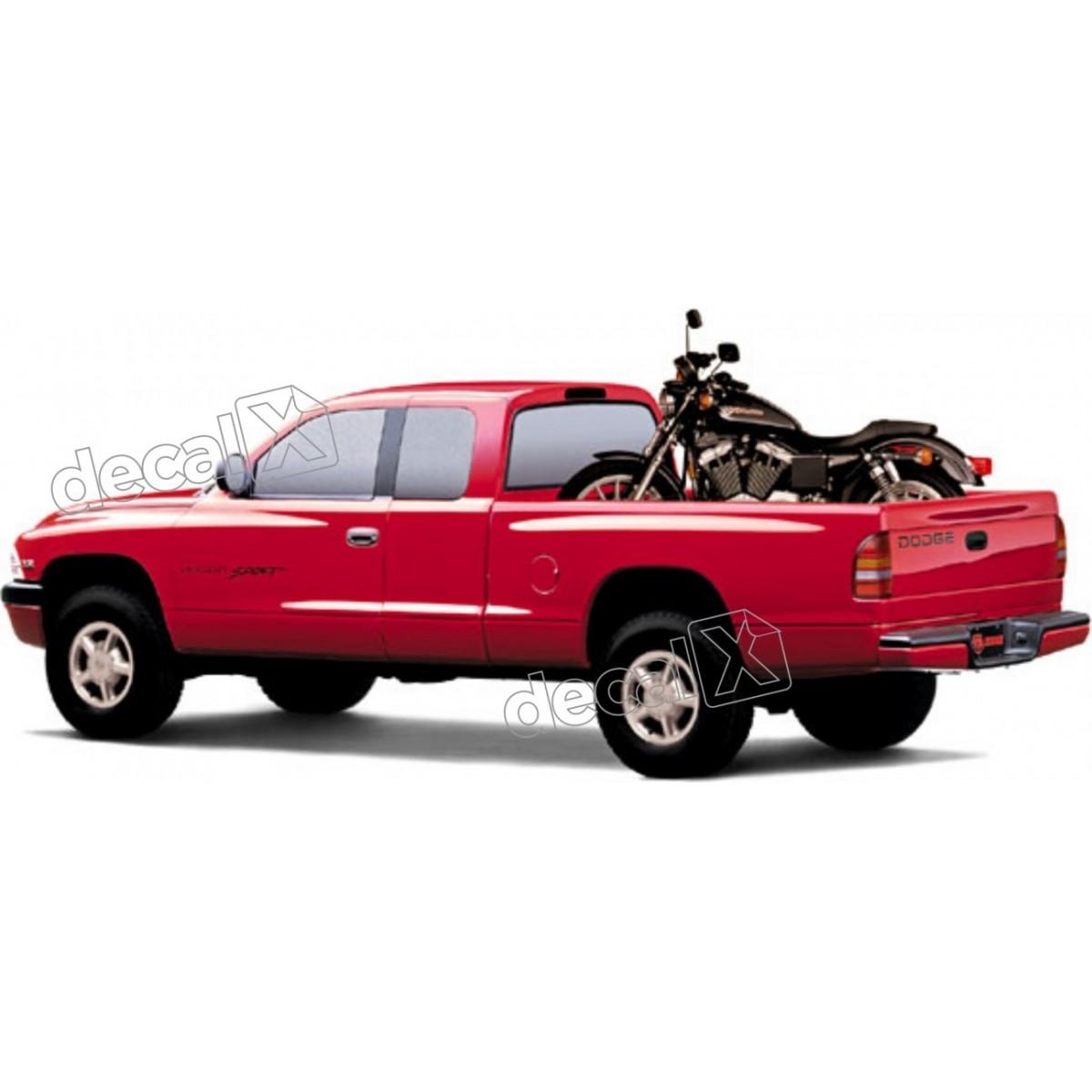 Kit Adesivos Dodge Dakota Sport Em Preto Decalx