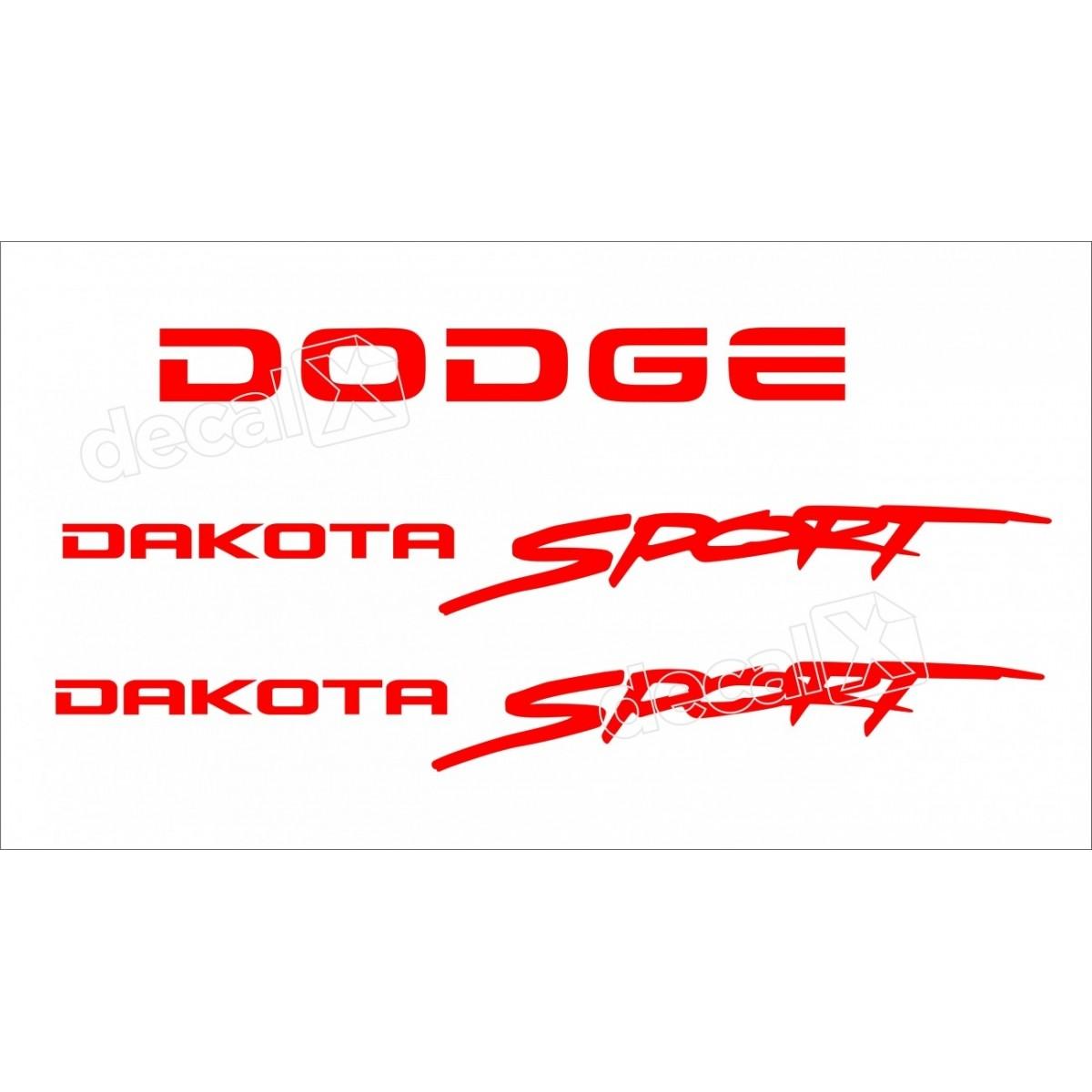 Kit Adesivos Dodge Dakota Sport Em Vermelho Decalx