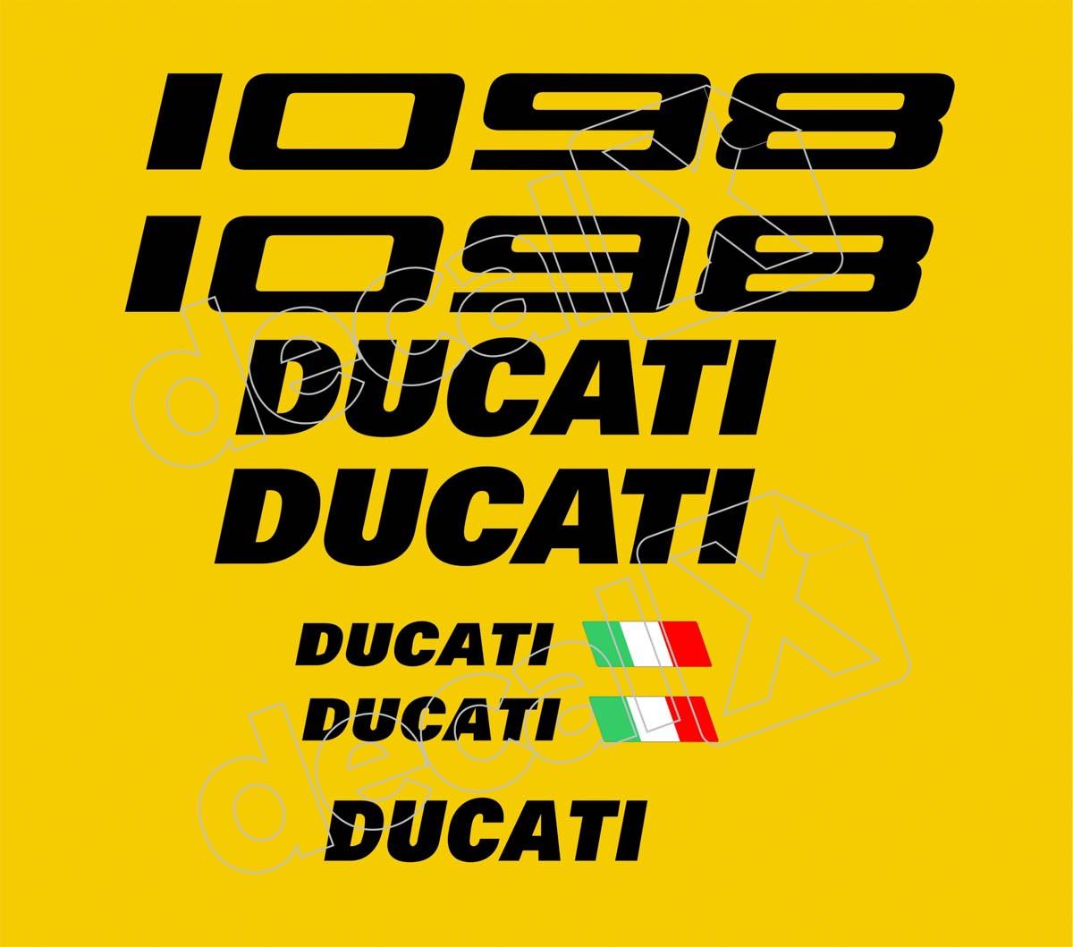 Kit Adesivos Ducati 1098 Amarela Decalx
