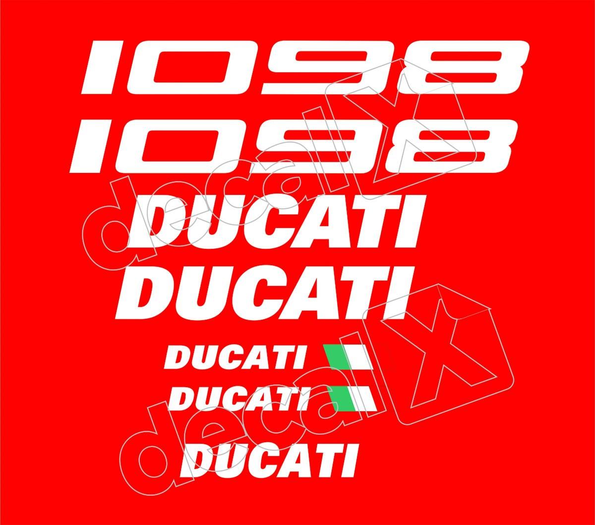 Kit Adesivos Ducati 1098 Vermelha Decalx