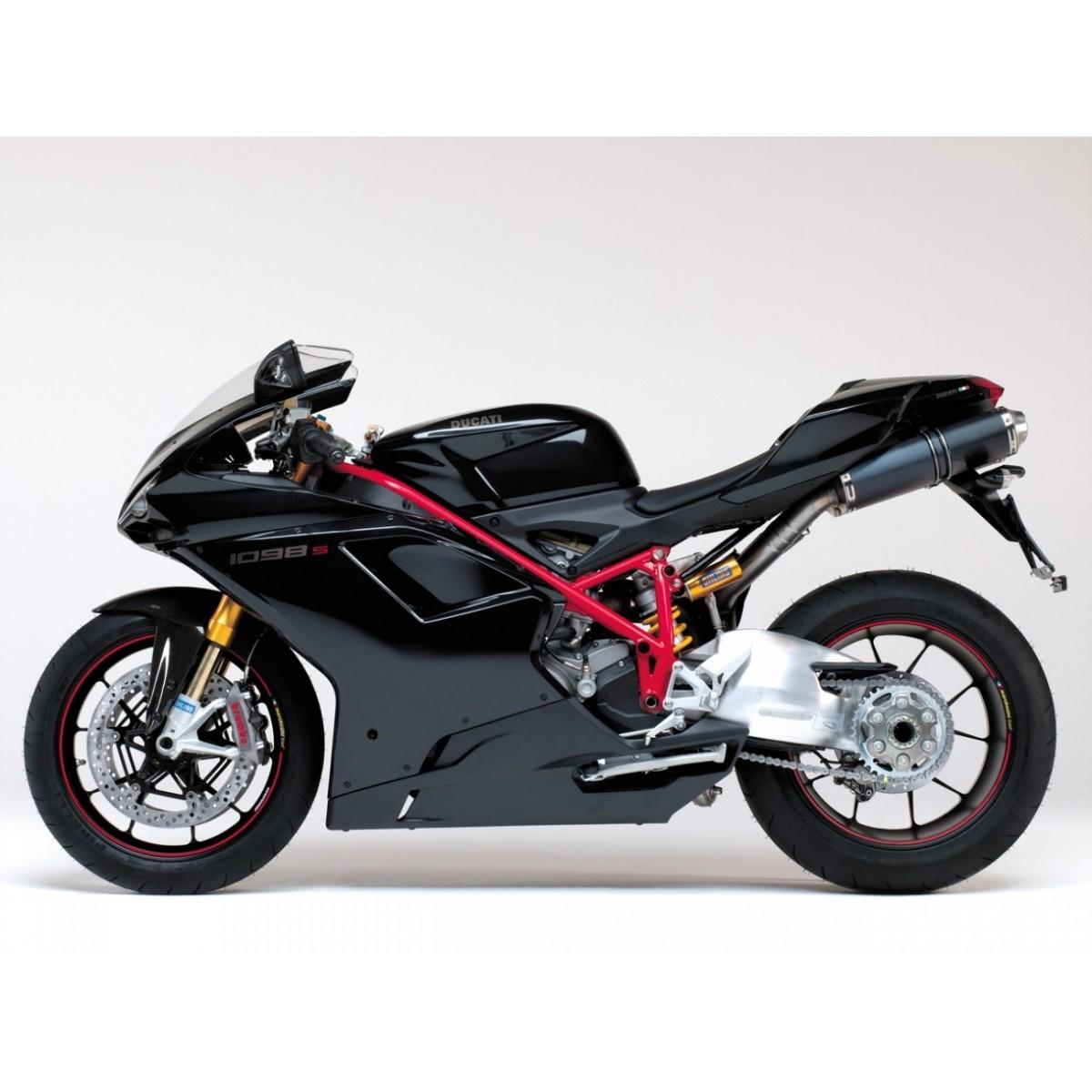 Kit Adesivos Ducati 1098s Preta Decalx