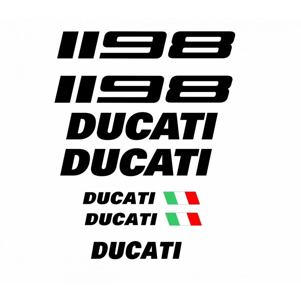Kit Adesivos Ducati 1198 Branca Decalx