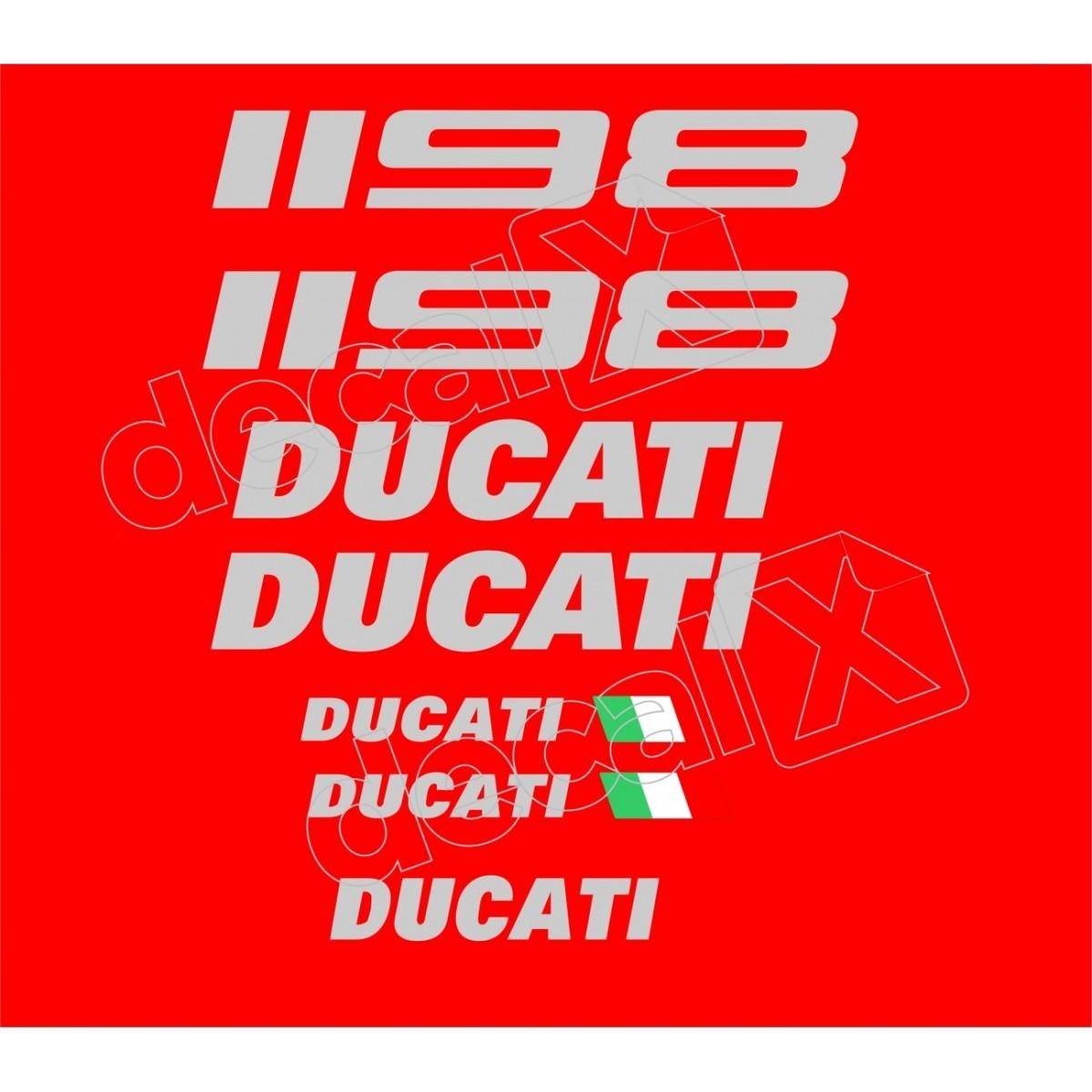 Kit Adesivos Ducati 1198 Vermelha Decalx