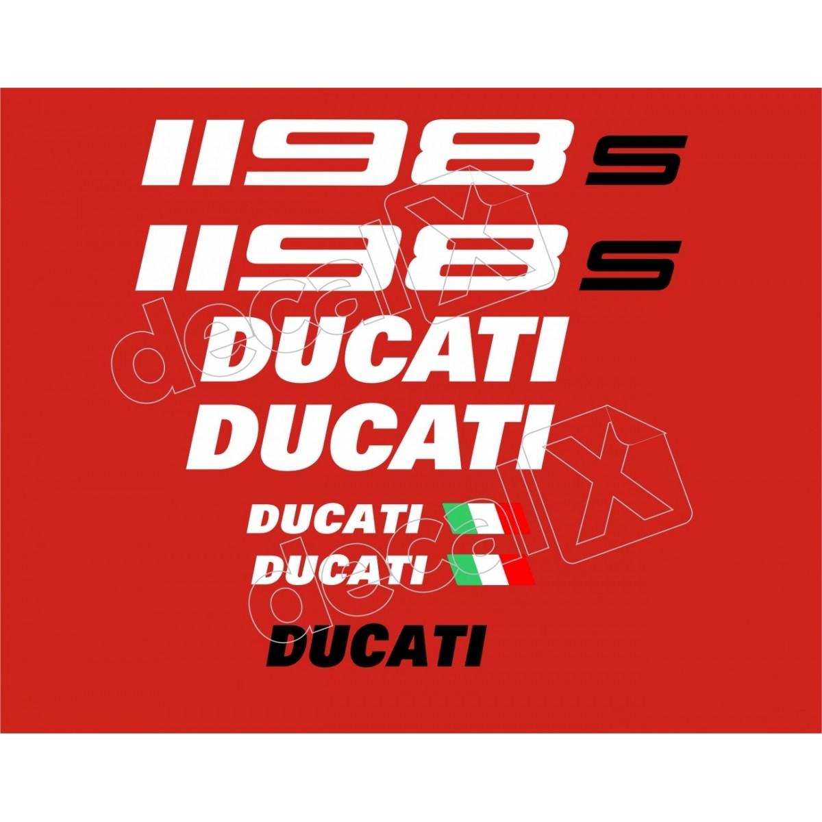 Kit Adesivos Ducati 1198s Vermelha Decalx
