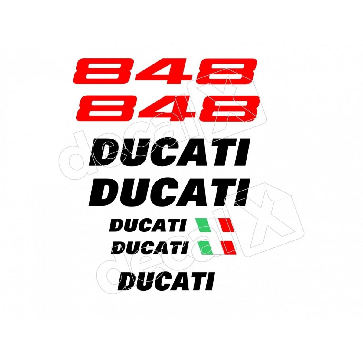 Kit Adesivos Ducati 848 Branca Decalx