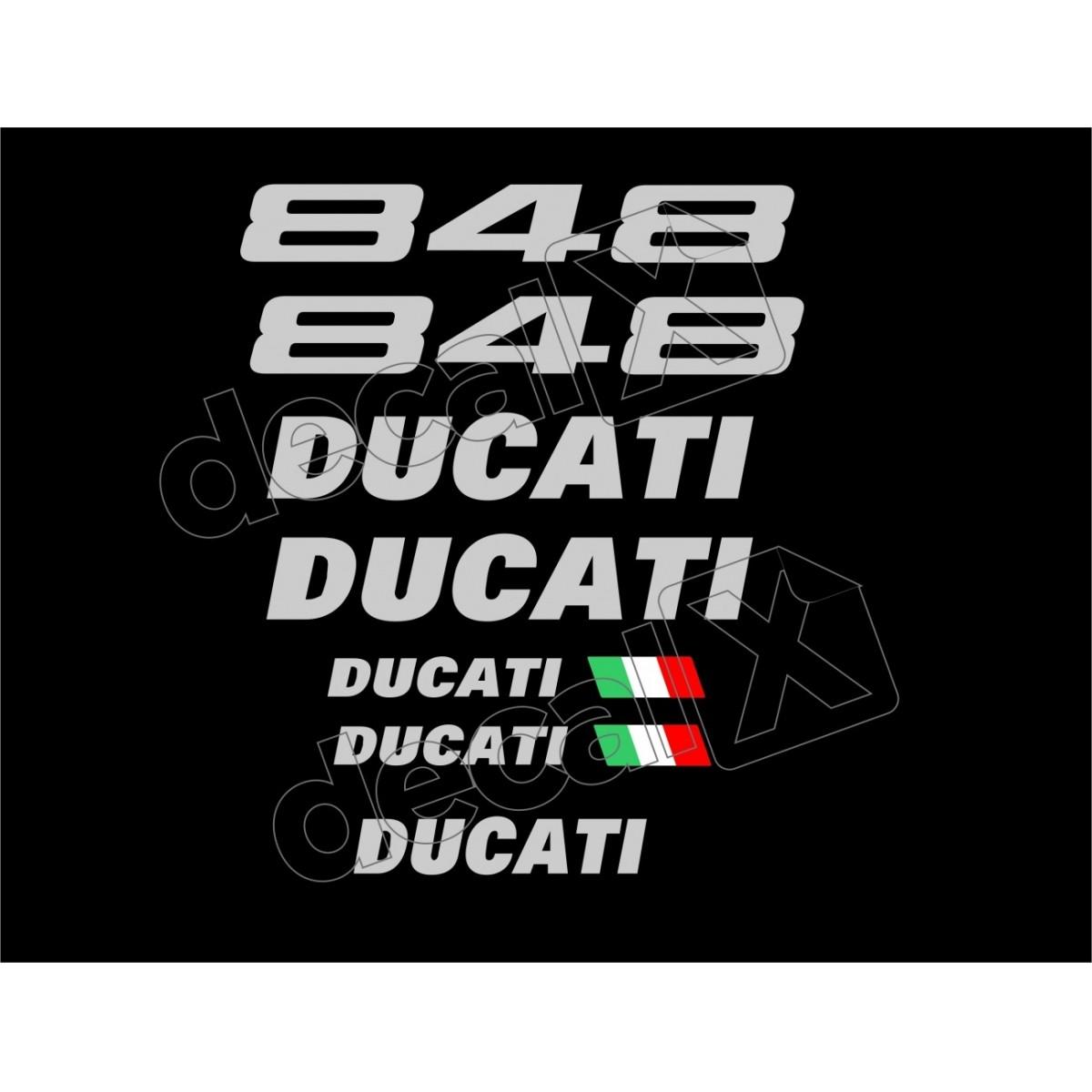 Kit Adesivos Ducati 848 Preta Decalx