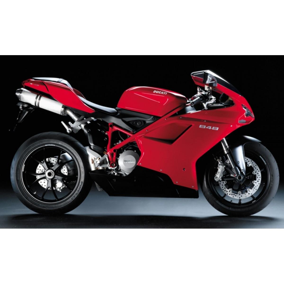 Kit Adesivos Ducati 848 Vermelha Decalx
