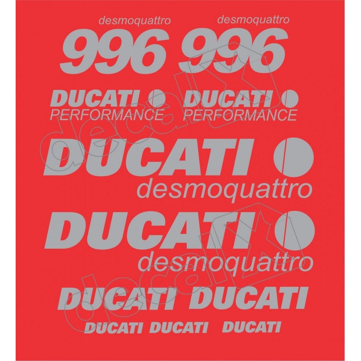 Kit Adesivos Ducati 996 Desmoquattro Performance Vermelha